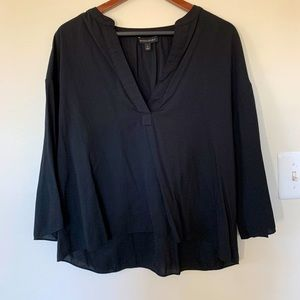 Banana Republic Drapey Black V-neck